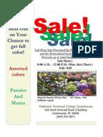 Hort Program Sales Flyer