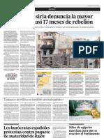 La Oposición Siria denuncia la mayor masacre en casi 17 meses de rebelión