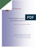 MATRIMONIO y Divorcio en El Derecho Romano - Todo