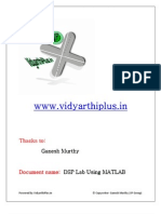 Dsp Lab Using Mat Lab