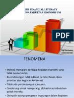 Analisis Financial Literacy Mahasiswa Fakultas Ekonomi UM
