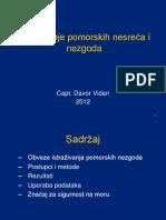istraživanje pomorskih nesreća i nezgoda - dvidan 2012