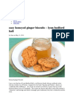 Honey Ginger Biscuits