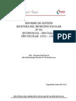 INFORME de Gestión.2011-2012