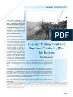 Business Continuity Plan and Disaster Management in Banks