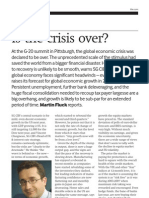 SG Forex Guide 2009 Crisis is Over Article
