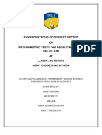 35540183 Psychometric Tests for Recuitment and Selection Project
