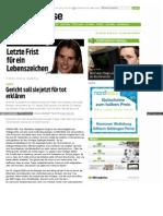 Vermisste Personen - Der Fall Inka Köntges - Letzte Frist - vermisst - www-neuepresse-de