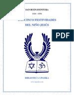 Las Cinco Festividades del Niño Jesús, de San Buenaventura