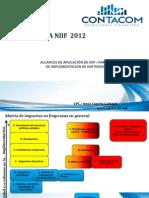 Conversion a Niif Empresas 2012