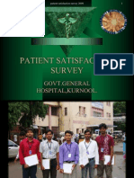 Patient Satisfactory Survey in Government General Hospital, Kurnool.