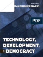 Allison, J.E., Technology, Development, And Democracy 2002