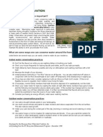 Water Conservation Fact Sheet - Hiwassee River Watershed Coalition