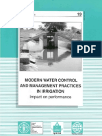 Modern Water Control and Management Practices in Irrigation