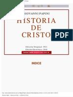 Papini Giovanni Historia de Cristo