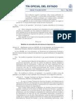 Medidas de Racionalizacion del Sistema de Dependencia. BOE 14 de julio de 2012