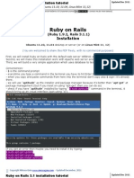 Installation Ruby on Rails for Ubuntu Linux Mint Www Mirceagoia Com