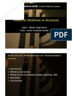 Análisis de vibraciones en ascensores
