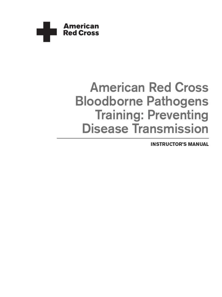 ARC Bloodborne Pathogens Training Preventing Disease Transmission Instructors  Manual | Personal Protective Equipment | Lecture