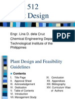 CHE 512 Plant Design Guidelines Format Up to Equipment Design (2)