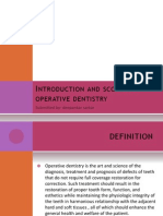 Introduction and Scope of Conservative Dentistry