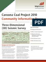 Community Information Paper 3d Seismic Survey