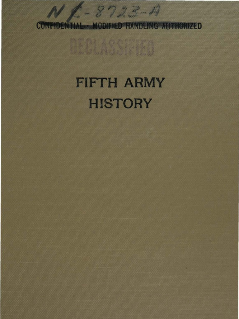 Fifth Army History - Part I - From Activation to the Fall of Naples | Airborne Forces | Division (Military)
