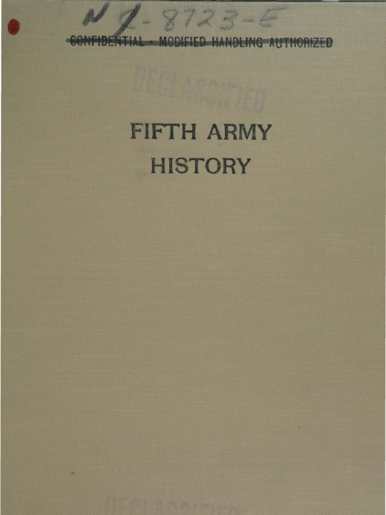 Fifth Army History - Part V - The Drive to Rome | Division (Military) | Trench Warfare