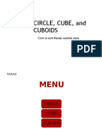 Circle, Cube, And Cuboids