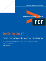 Accenture India 2012 Tough Times Ahead No Room Complacency