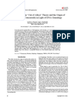 """Re-Examining the """"Out of Africa"""" Theory and the Origin of Europeoids (Caucasoids) in Light of DNA Genealogy"""
