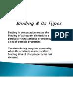 Binding & Its Types