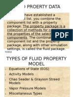 Fluid Proerty Data Summery