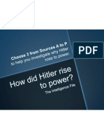 How did Hitler rise to power - Sources - 3EXP