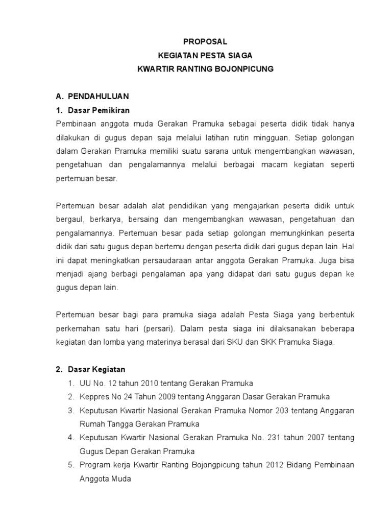 Proposal Pesta Siaga