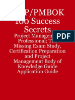 PMP PMBOK 100 Success Secrets Project Management Professional the Missing Exam Study Certification Preparation and PMBOK