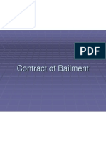 Contract of Bailment