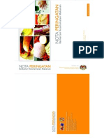 nota peringatan keselamatan makanan