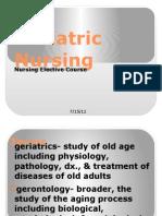 Geriatric Nursing in Ppt