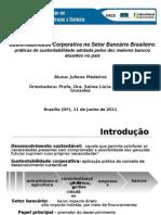 Sustentabilidade corporativa no setor bancário brasileiro