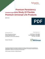 Research Premium Persist Assump Report