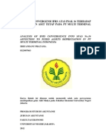 Analisis Konvergensi IFRS Atas PSAK 16 Terhadap Penyusutan Aset Tetap Pada PT Multi Terminal Indonesia