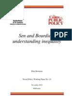 Bowman Sen and Bourdieu Understanding Inequality 2010