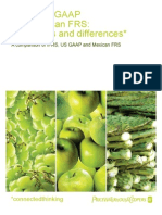 IFRS US GAAP and Mexican FRS Similarities and Differences