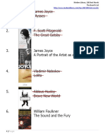 Modern Library List of 100 Novels, Completed_09Jul19