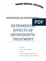 Detrimental Effects of Orthodontic Treatment1