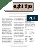 Furrow Irrigation - Drought Tips