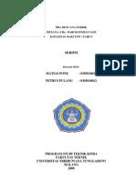Pra Rencana Pabrik Metana (Ch4) Dari Kotoran Sapi