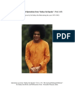 "A 301 Page Arrangement of Quotations from ""Sathya Sai Speaks"" (Vol. 1-15)"