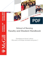 School of Nursing Handbook Jan 2011